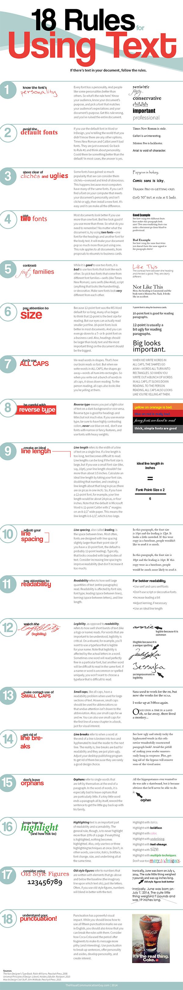 18 Rules You Must Follow to Ensure You Use Text Correctly on Your ...