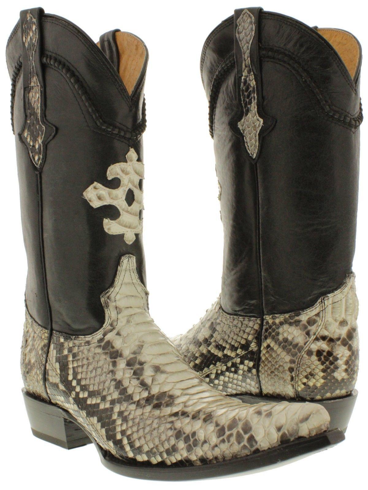 0400247cda9 Details about Men's Exotic Genuine Python Snakeskin Cowboy Boots ...