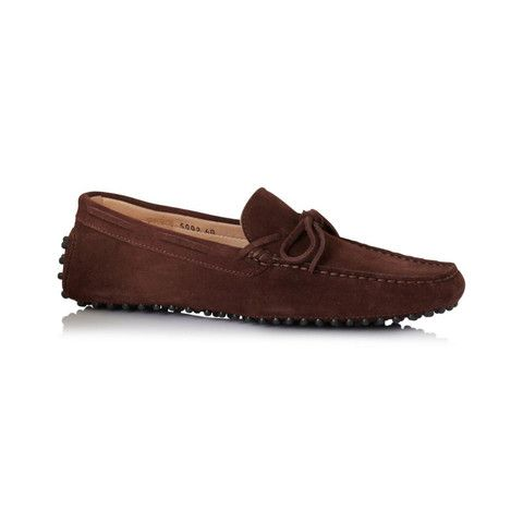 3a90da0c7a5f1 Men's Chocolate Brown Suede Driving Shoe Loafers - L'bardi - Made in Italy  shoes and accessories