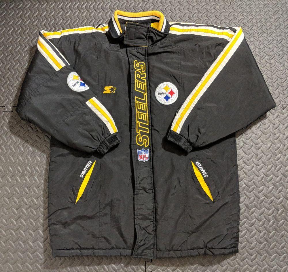 RARE Vintage Pittsburgh Steelers Men s NFL Pro Line Starter Jacket sz LARGE   Starter  PittsburghSteelers  steeler  rare  vintage  pittburge  NFL   proline ... c75356d0f