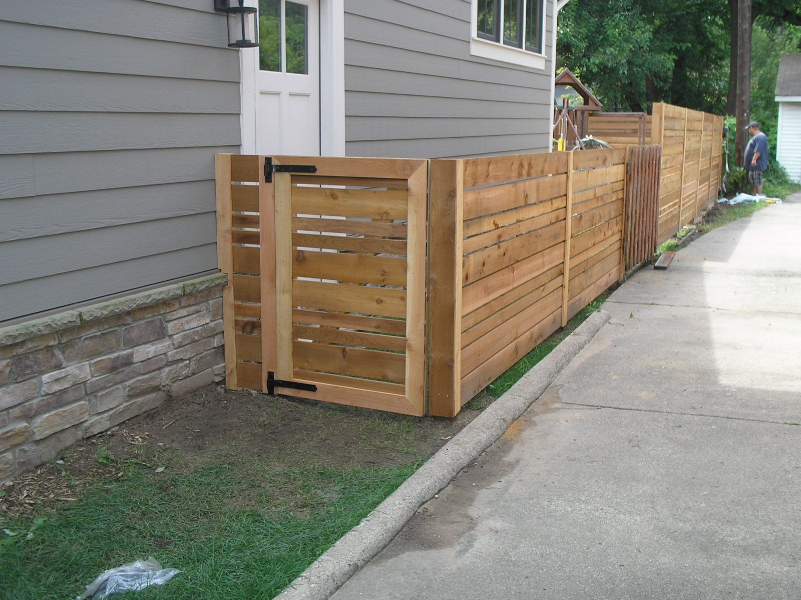 4 And 6 Foot Horizontal Spaced With Gate Wood Fence Gates Wood Fence Cheap Fence