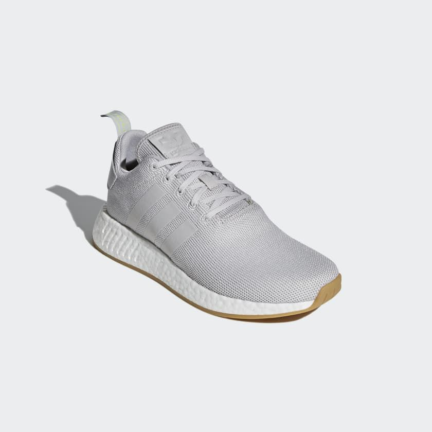Need Replacement Clean Grey Sneakers And The R2 With Gum Sole Is