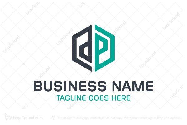 Logo for sale Letter Dp Hexagon Logo Simple letter dp in hexagon