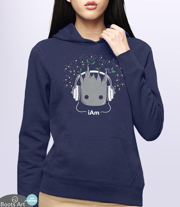 "c18c73758 I Am"" Kawaii Cute Baby Groot Hoodie 