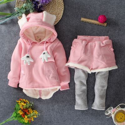 0d305cccd Click to Buy    Female baby winter more new add wool suit 0-1-2-3 ...
