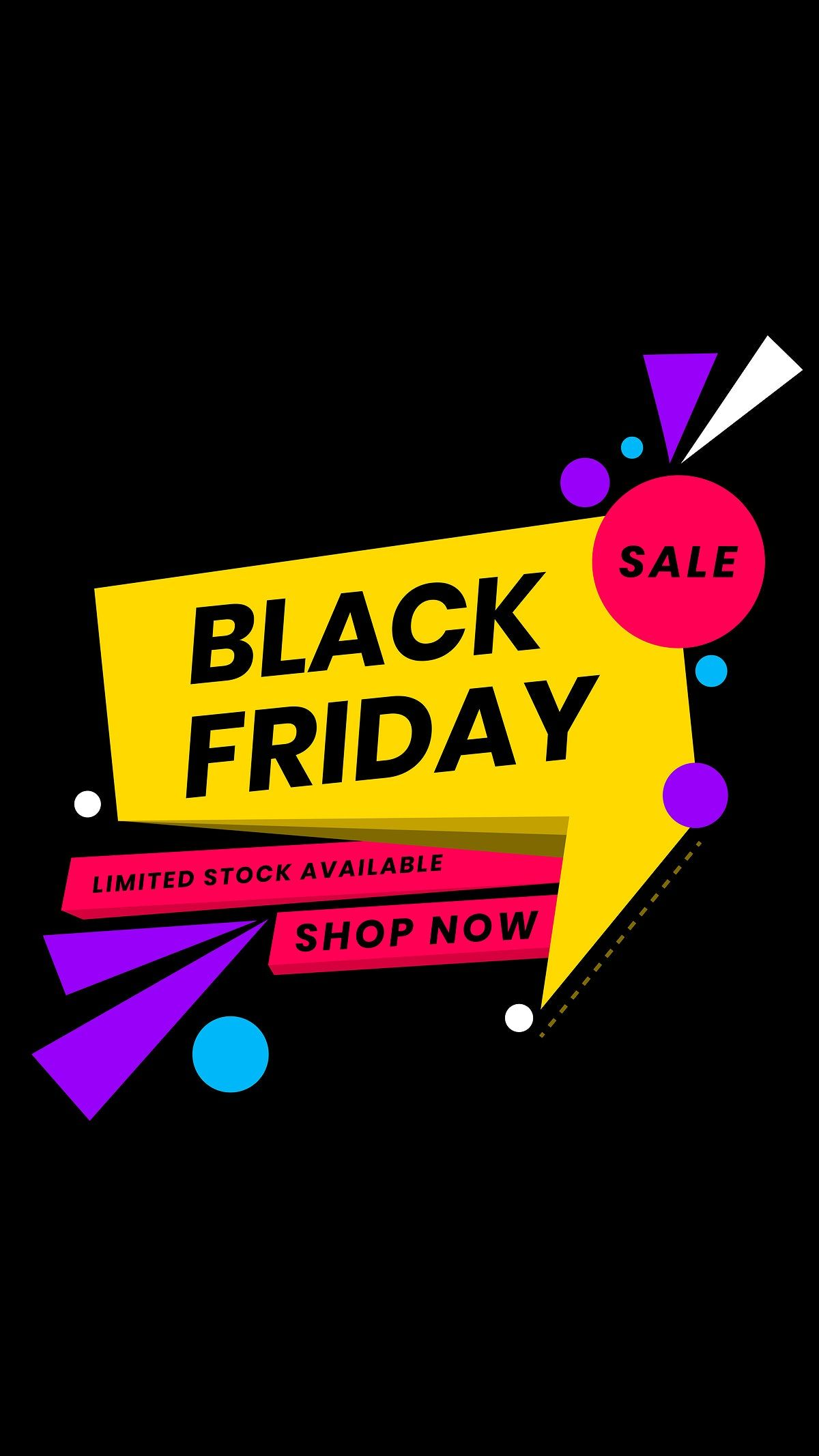 Download Premium Vector Of Colorful Vector Black Friday Ad Announcement Black Friday Banner Black Friday Ads Black Friday