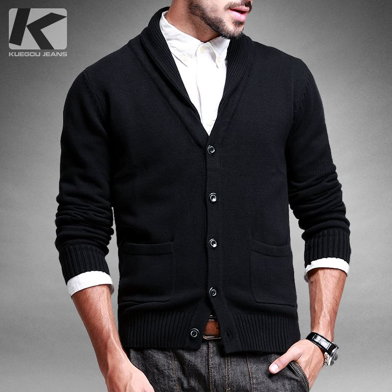 Free shipping mens casual V-neck thickening cardigan sweater outerwear 12088