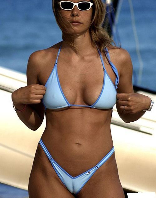 Join. And Wife microkini camel toe