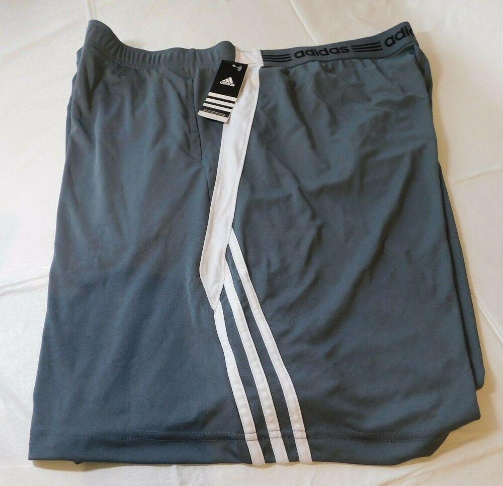 Adidas Climalite Mens Shorts Swat Short PKT Lead Grey White