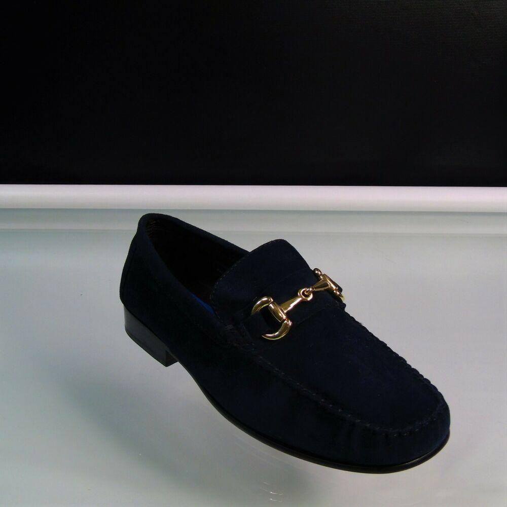 27b9af20ec7b1 Giorgio Brutini Loafers Suede Leather Mens Youth Size 6M Navy Blue Slip On  #GiorgioBrutini #LoafersSlipOns