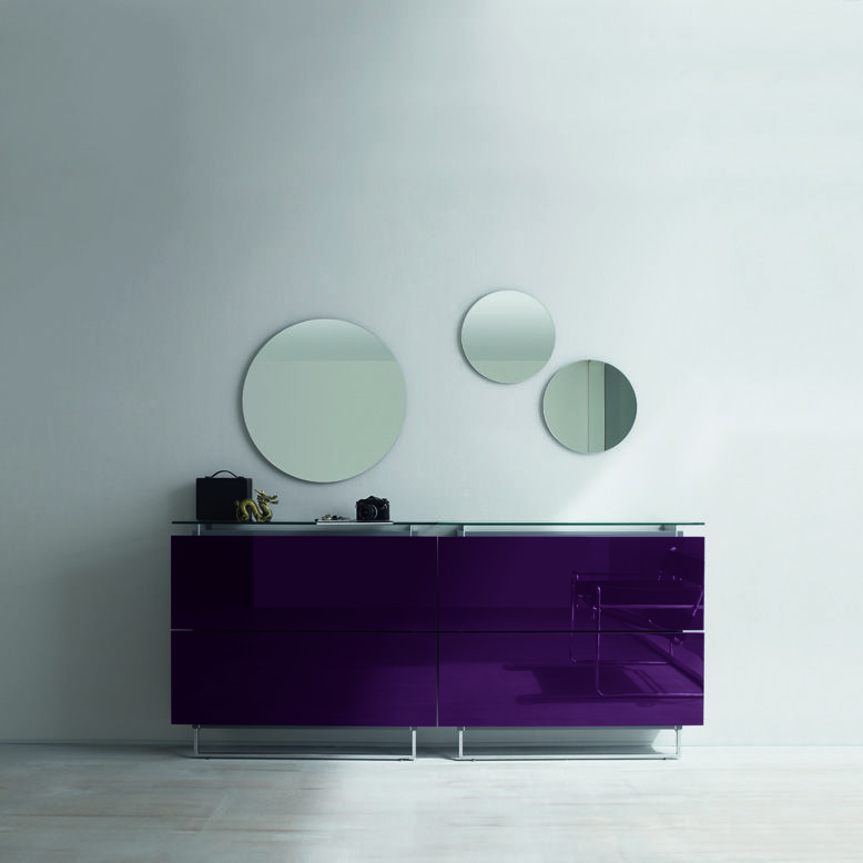 Merveilleux Italian Hallway Shoe Cabinet With Circle Mirror At My Italian Living Ltd