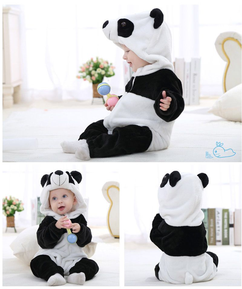 0b6ec7ffe 2016 Infant Romper Baby Boys Girls Jumpsuit New born Bebe Clothing Hooded  Toddler Baby Clothes Cute Panda Romper Baby Costumes