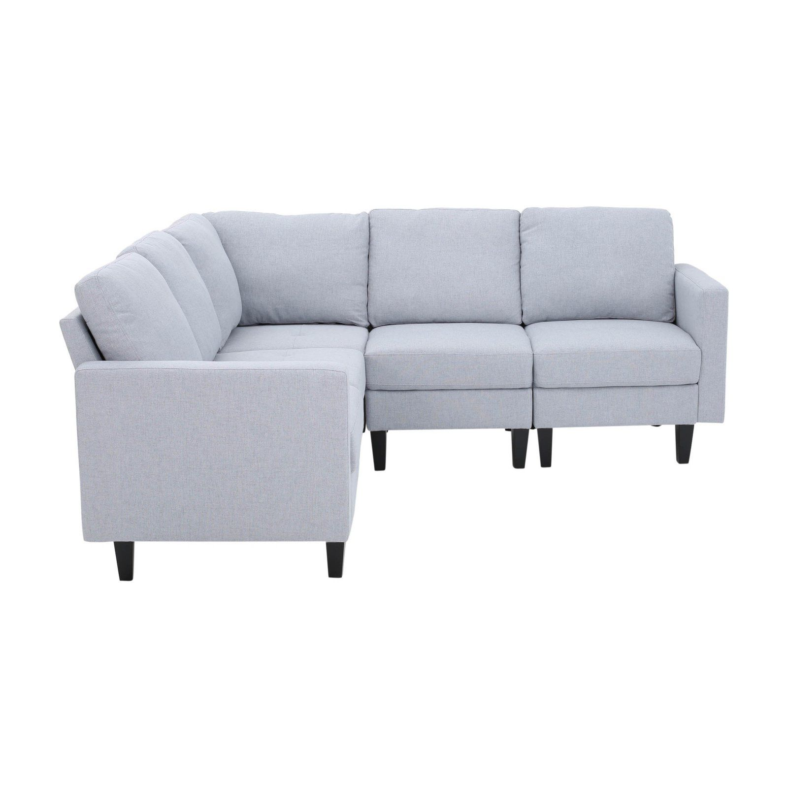 Zahra Tufted Sectional Sofa Light Gray Tufted Sectional Sofa Tufted Sectional Sectional Sofa