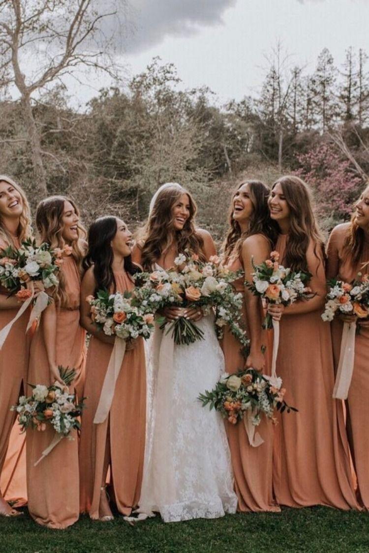 20 Vintage Sunset Dusty Orange Wedding Color Ideas For 2019 Orange Bridesmaid Dresses Orange Chiffon Bridesmaid Dress Fall Bridesmaid Dresses [ 1125 x 750 Pixel ]