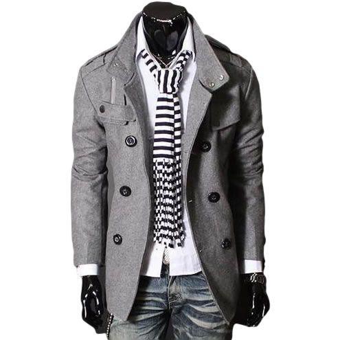 Casaco Masculino Slim R$276,00 Compre Agora >… | Casacos