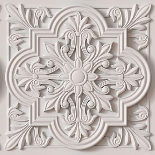 Tiles Decorative Decorative Ceiling Tile  3D Model  Ceiling Tiles 3D And Decoration