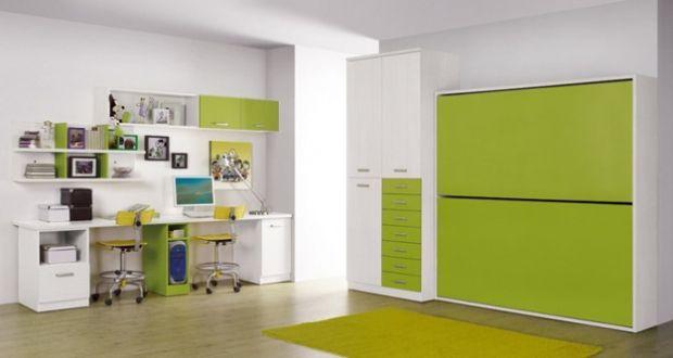 Juvenil literas dobles abatibles ideales para espacios mas reducidos ref juv08 mobelinde - Dormitorios juveniles espacios pequenos ...