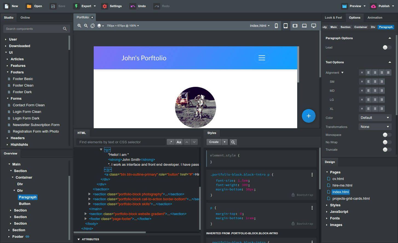 Download Bootstrap Studio V5 2 1 In 2020 Web Design Tools Web Design Webpage Design