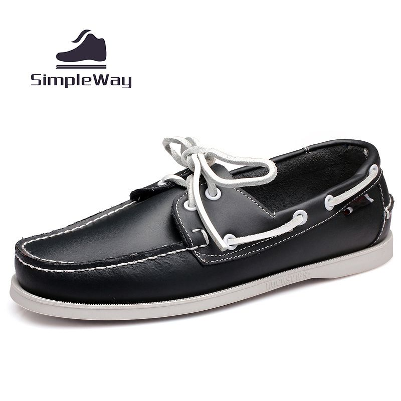 Shoes Mens Casual Shoes Deck Boat Shoes Low-Top Sneakers Lace-up Shoes (Color : White Size : 41)
