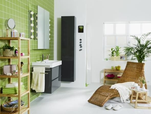 grüne oase im badezimmer, Badezimmer gestaltung