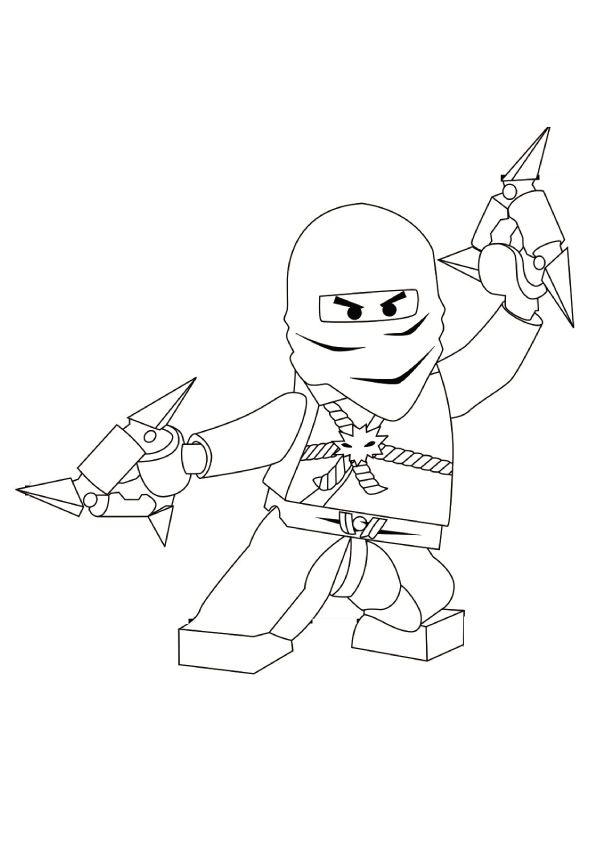 Zane Zx Ninjago Coloring Pages Monster Coloring Pages Lego Coloring Pages