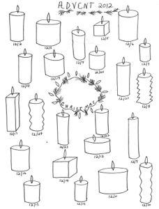 Advent Calendar Templates 2012