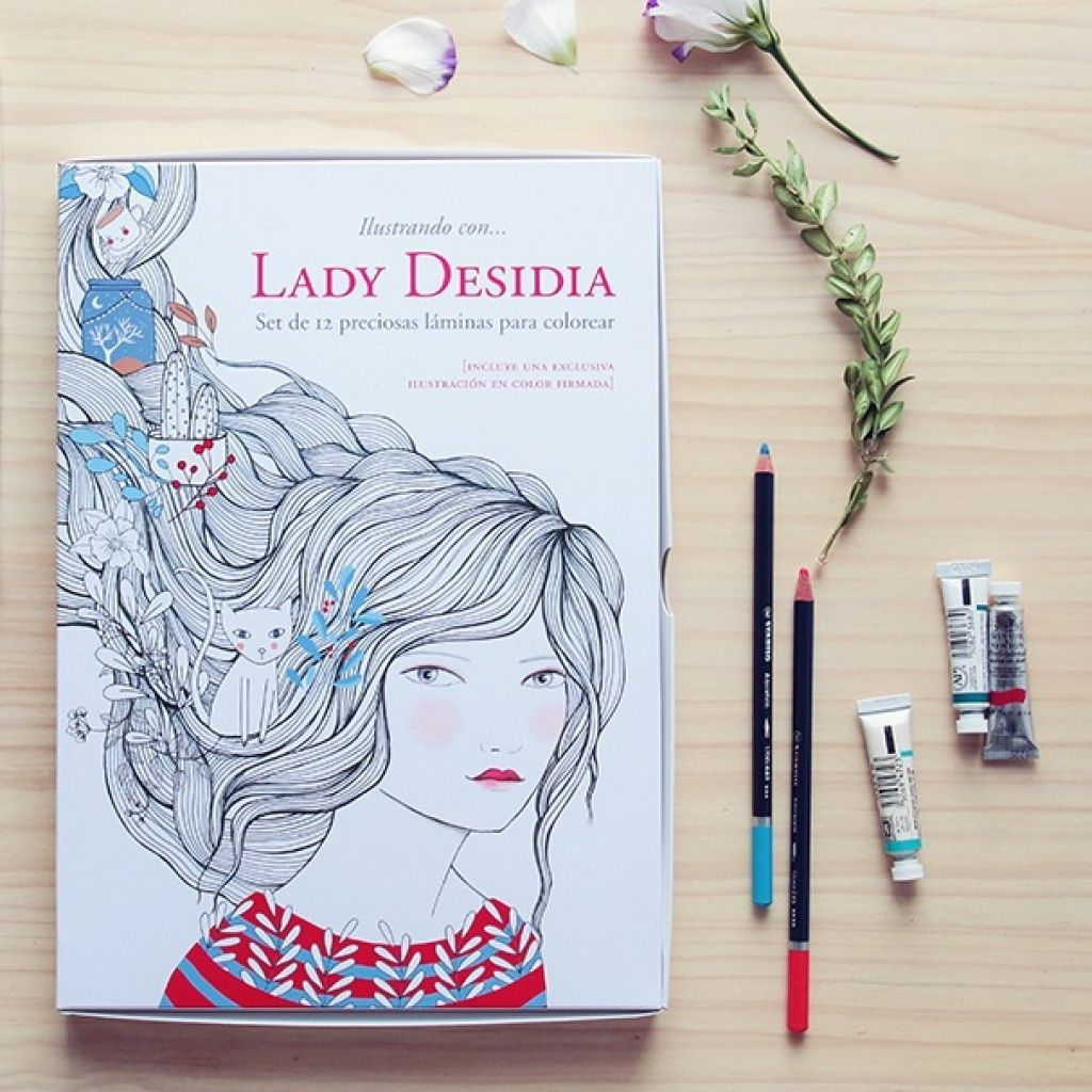Láminas para colorear y enmarcar de Lady Desidia en www.smartyfun.es ...