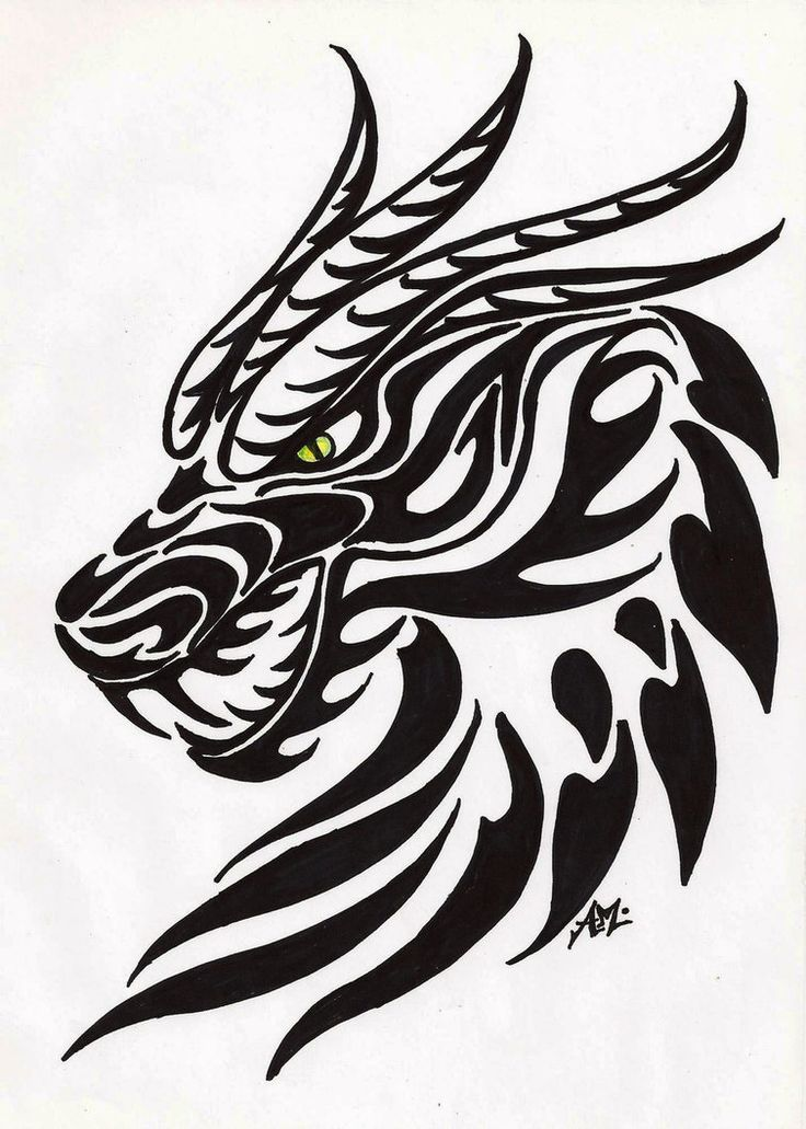 dragon head tattoo dragon tattoos designs idea dragonthing stencil ray pinterest dragon. Black Bedroom Furniture Sets. Home Design Ideas