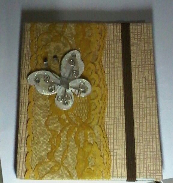 Bloquinho butterfly. DIY.