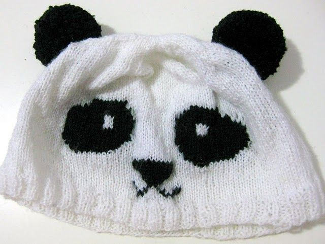 Panda Hat Knit Knit Knit Pinterest Panda Knit Crochet And Crochet
