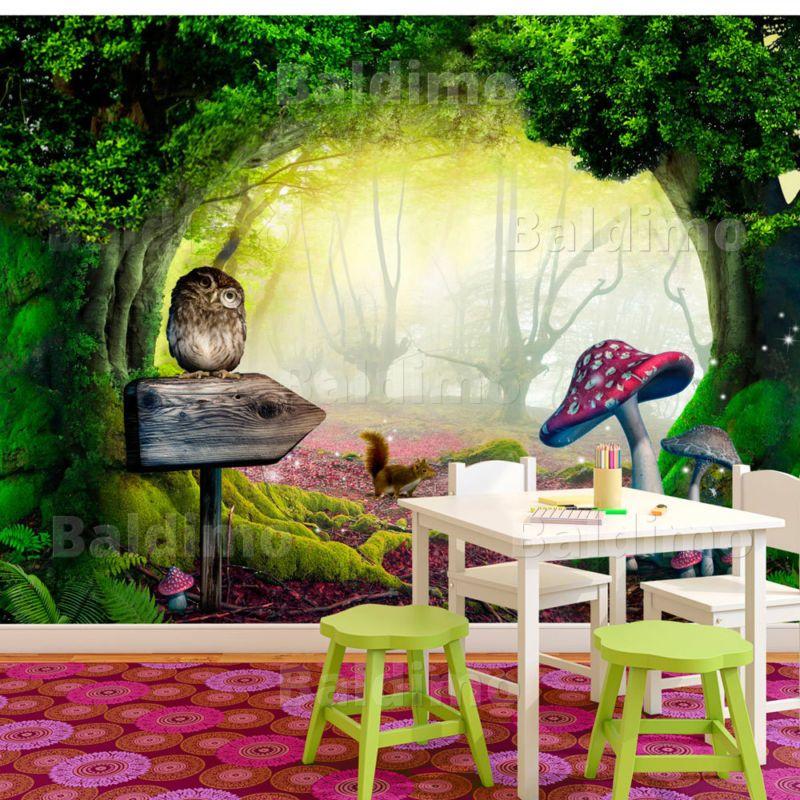 details zu fototapete fantasy vliestapete wald wandbild wandtapete kinderzimmer 10110903 40. Black Bedroom Furniture Sets. Home Design Ideas