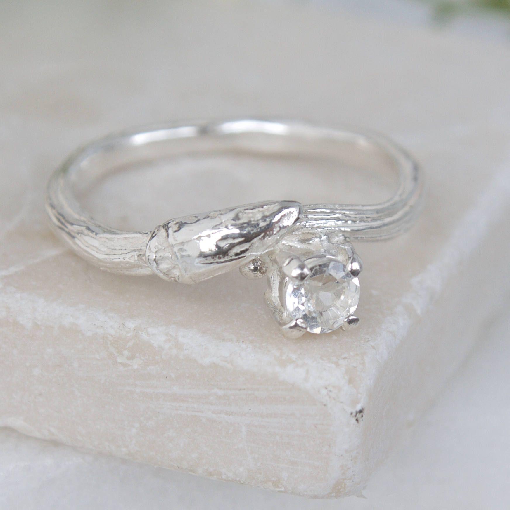 Willow Twig RingWoodland RingTopaz Engagement RingNine