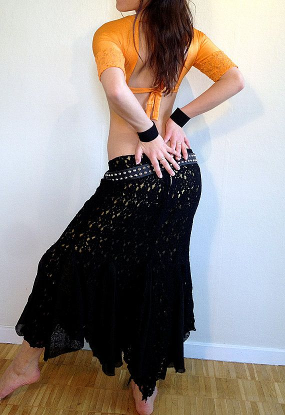 SALE 30 Black lace mermaid skirt by AnkiandWolph on Etsy, $87.50