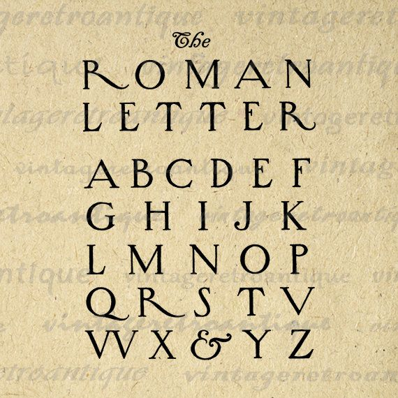 Roman Calligraphy Styles | Printable Graphic Roman Style Letters ...