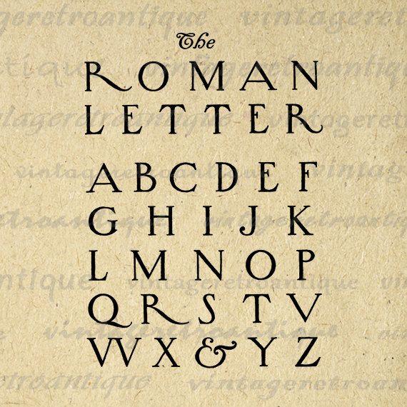 Printable Graphic Roman Style Letters Download Alphabet
