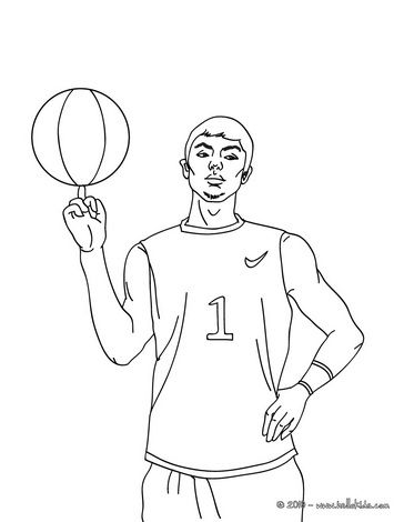 Basketball Coloring Pages Basketball Player With Ball Sports Coloring Pages Basketball Players Coloring Pages
