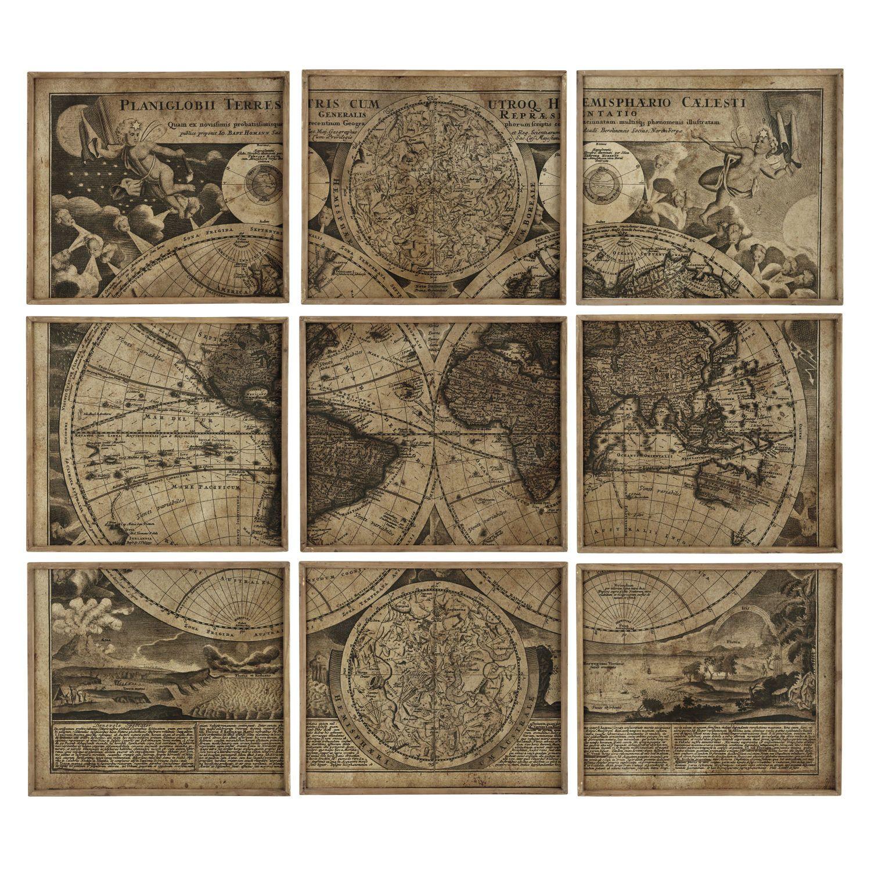 cadres carte du monde x déco industrielle pinterest