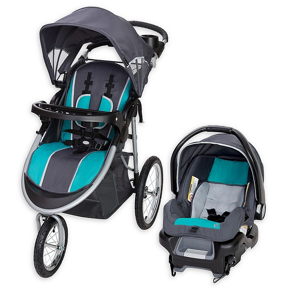 Baby Trend Pathway 35 Jogger Travel System In Optic Baby