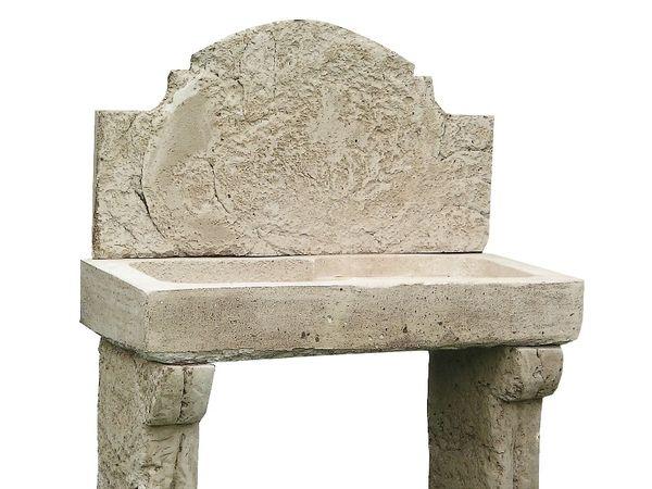 Évier en béton aspect vieilli fausse pierre de Bourgogne  Patine
