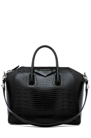 df458b390df GIVENCHY Antigona Medium Stamped Tejus in Black | bag lady | Bags ...