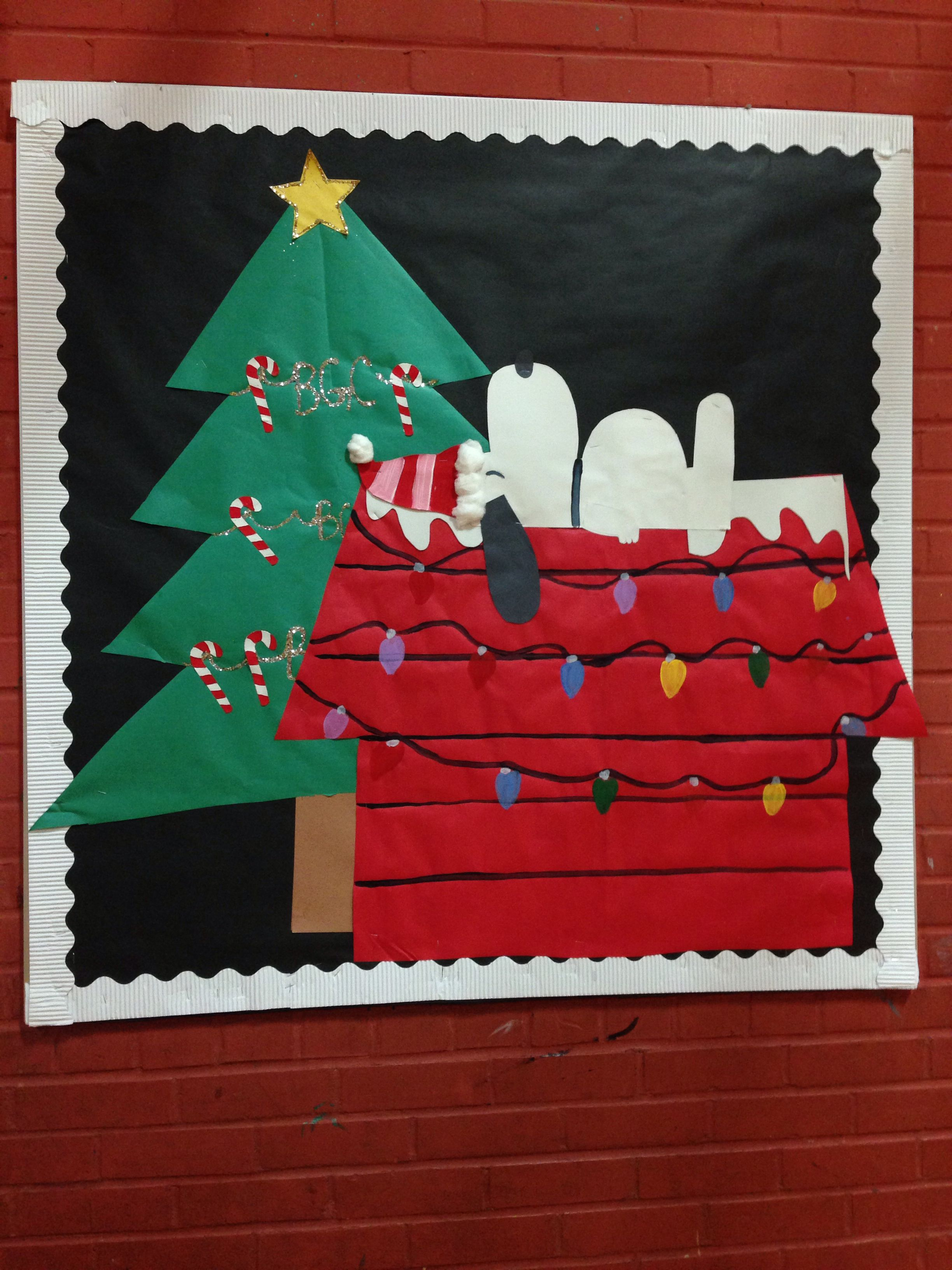 Snoopy Bulletin Board For A Christmas Theme Boards
