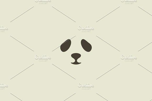 Panda Face Vector Logo Seal Logotype Sea Lion Zoo Symbol Icon