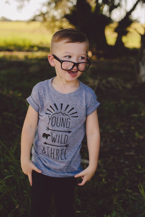 Jungs 3 Geburtstag Shirt Jungs Young Wild Und Drei Hemd Junge
