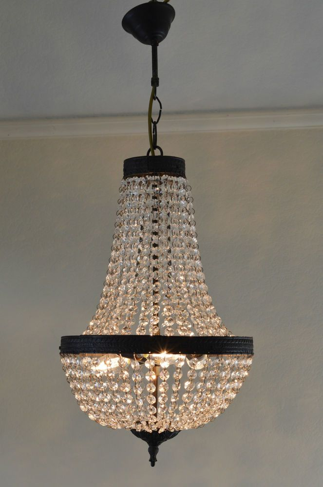 Exquisite Antique French Style Purse Ceiling Crystal Chandelier Nouveau Lighting