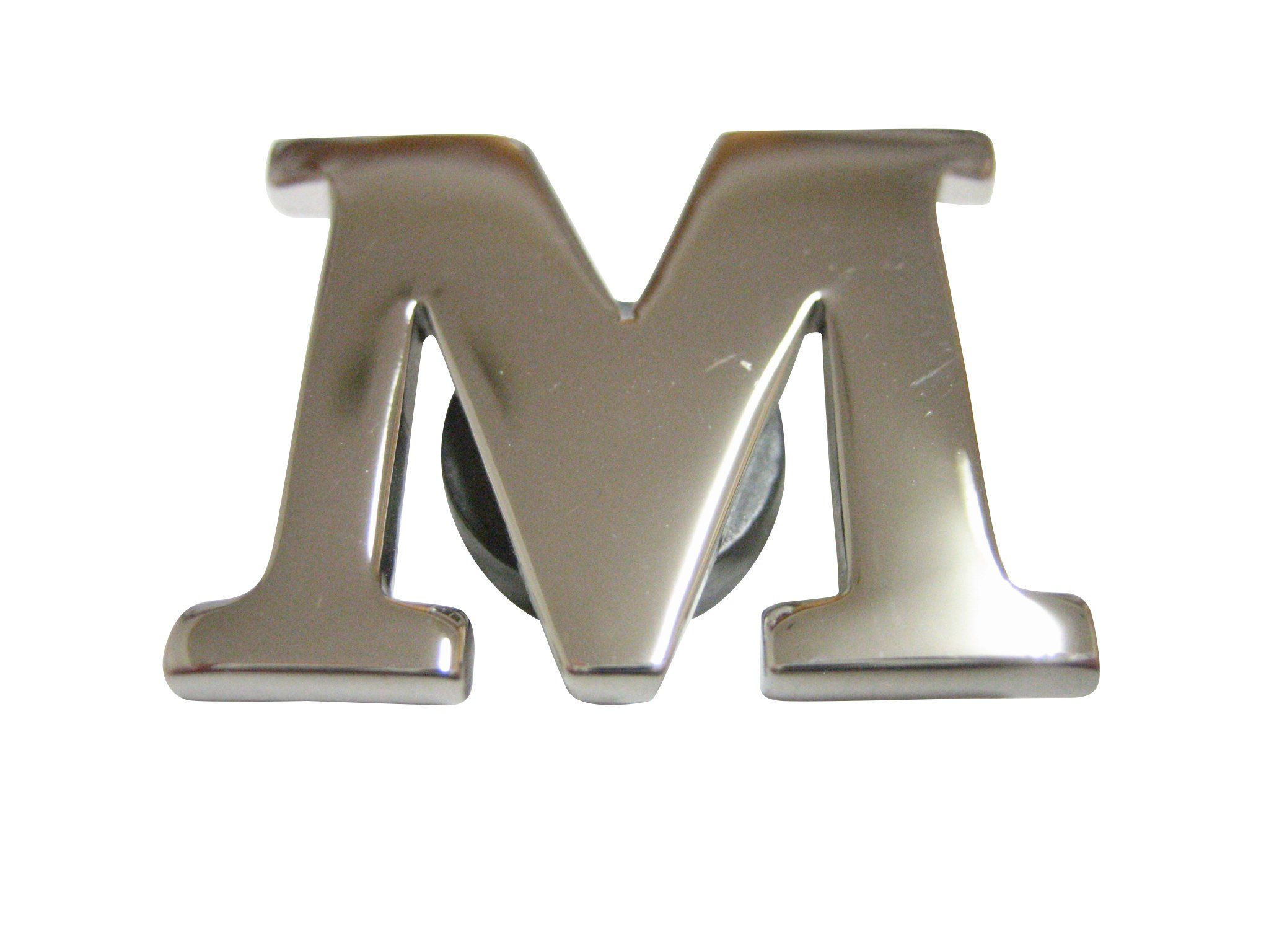 Gold Toned Etched Oval Letter F Monogram Magnet