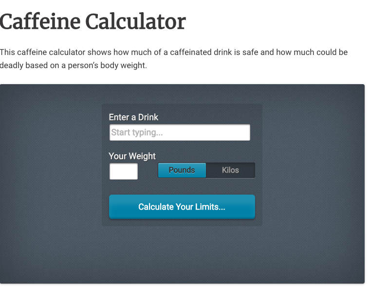 Caffeine by metroxing on Drink, Drank Body weight