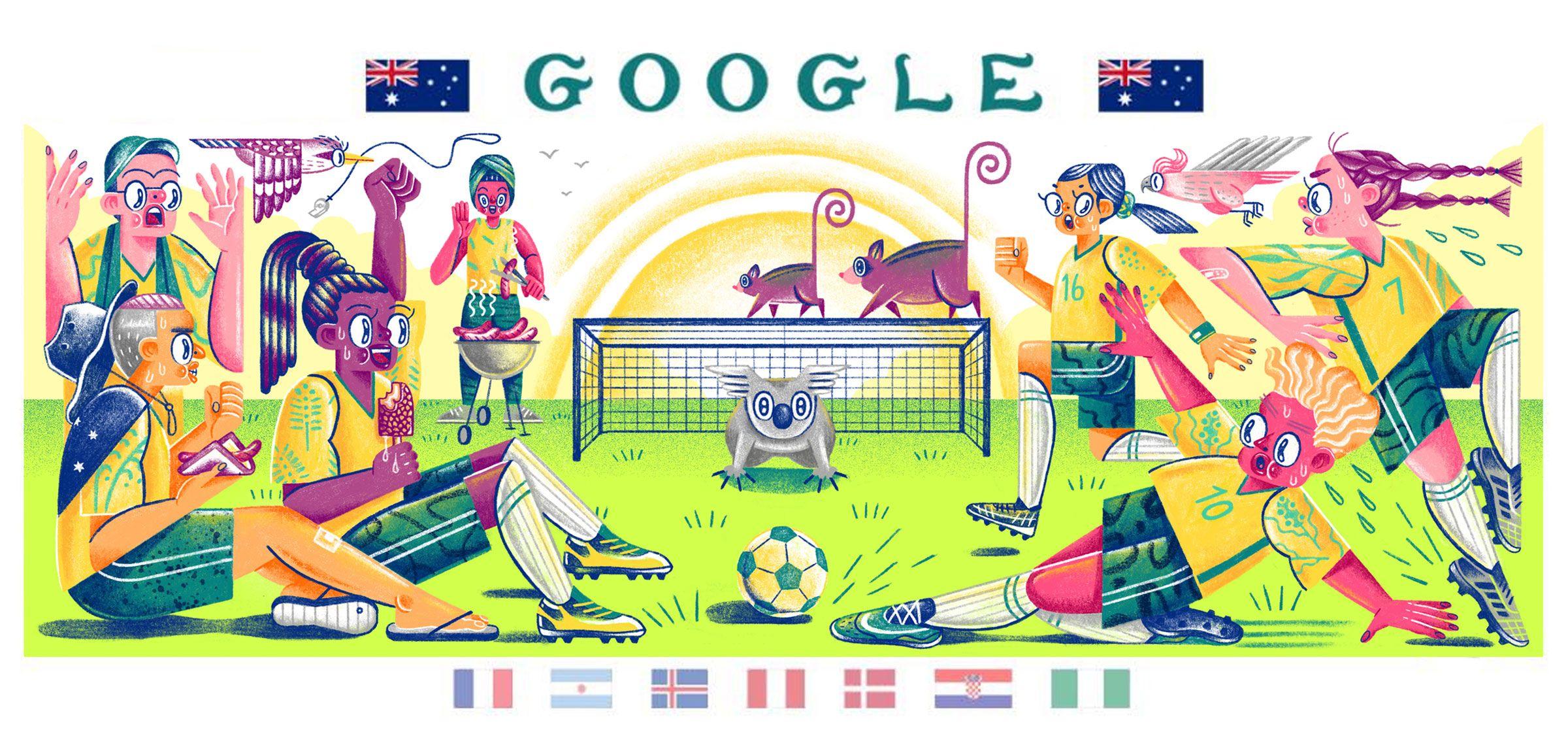 Soccer Illustration For Google By Helen Li Google Doodles Google Doodle Today Fifa Tournaments