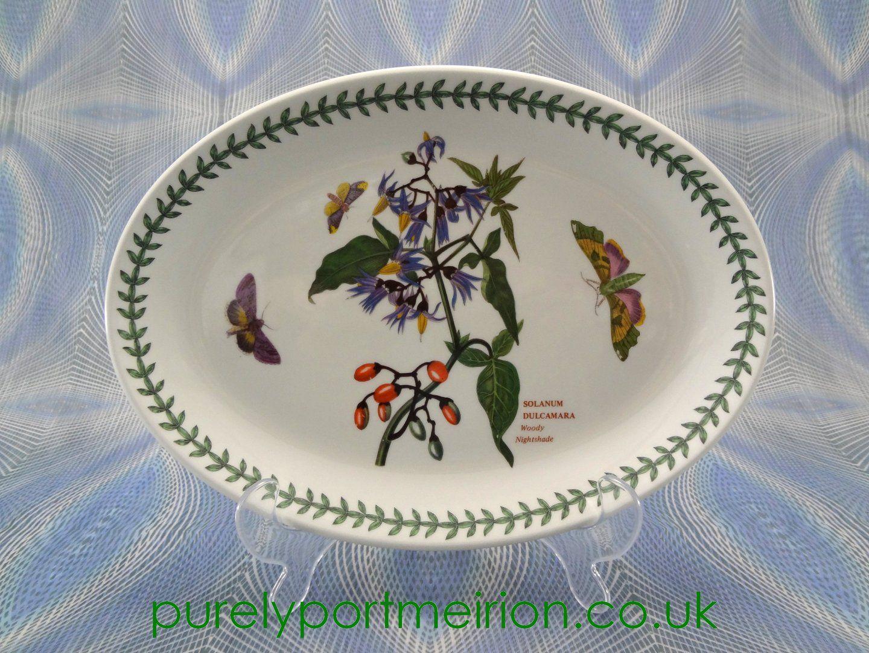 Portmeirion Botanic Garden 10.75 Inch Oval Steak Plate