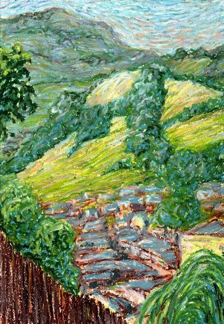 Newtown Hills: Plein Air Oil Pastel Painting
