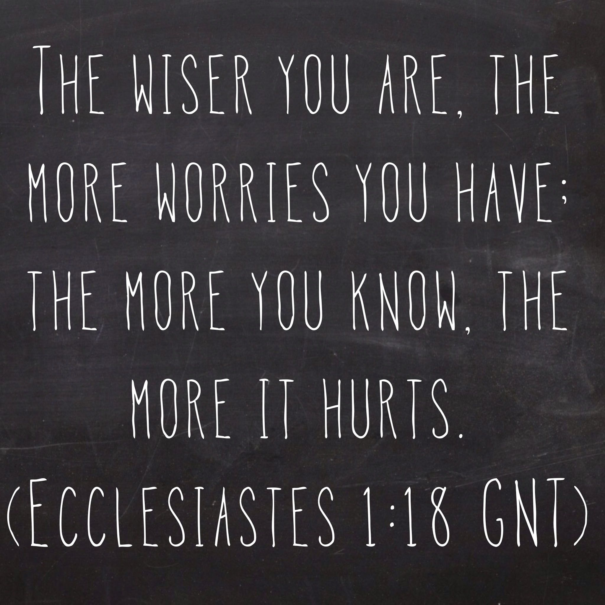 Image Result For Ecclesiastes 1 18